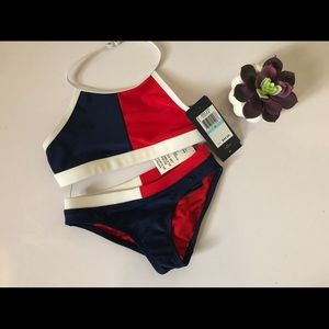 Tommy Hilfiger little girl 2 piece swimsuit